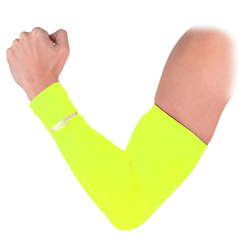 COOLOMG 1PCS Anti-slip Arm Sleeve Fluorescent Green SP017FN