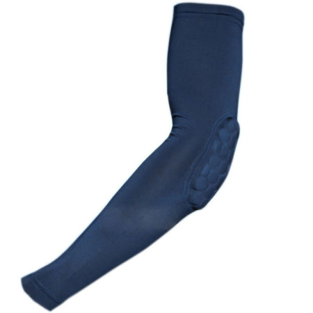 COOLOMG 1PCS Arm Sleeve with Pad Navy Blue Protector Gear Shooting Hand Arm Elbow Sleeve