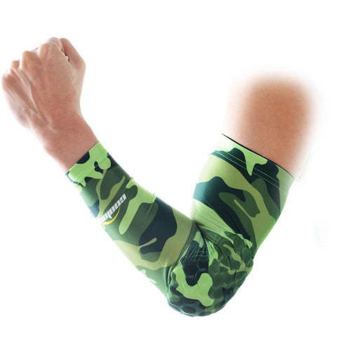 COOLOMG 1PCS Anti-slip Arm Sleeve with Pad Camouflage Green