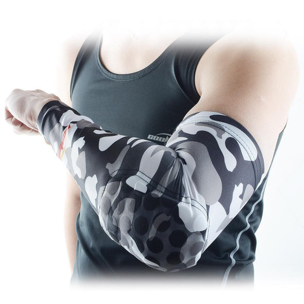 Camouflage Grey Anti-slip Arm Sleeve with Pad