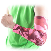 COOLOMG 1PCS Anti-slip Arm Sleeve with Pad Camouflage Pink