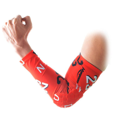 COOLOMG 1PCS Anti-slip Red Arm Sleeve with Pad Forever 23