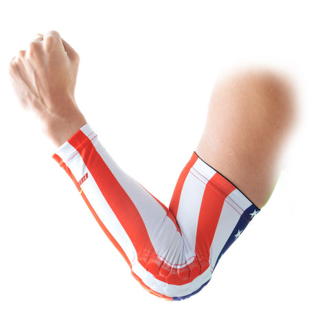COOLOMG 1PCS Anti-slip Arm Sleeve with Pad USA Flag