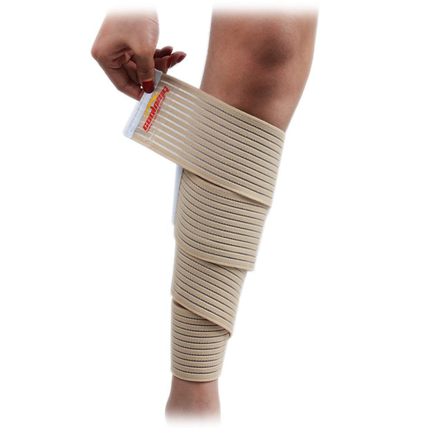 COOLOMG 1 Piece Sport Soccer Football Basketball Wrap-around Calf Support Bandage Shin Band