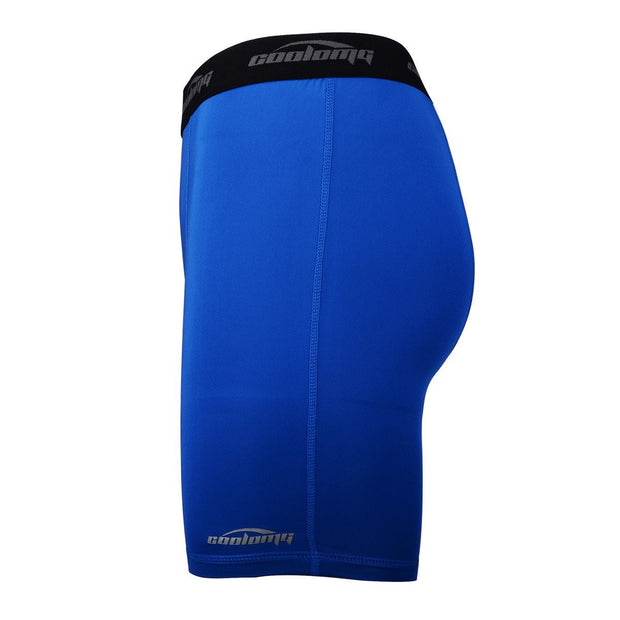 "Men's Blue 6"" Training Compression Shorts"
