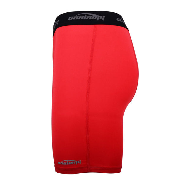 "Men's Red 6"" Training Compression Shorts"