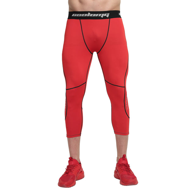 Red 3/4 Tights Pants for Youth & Men