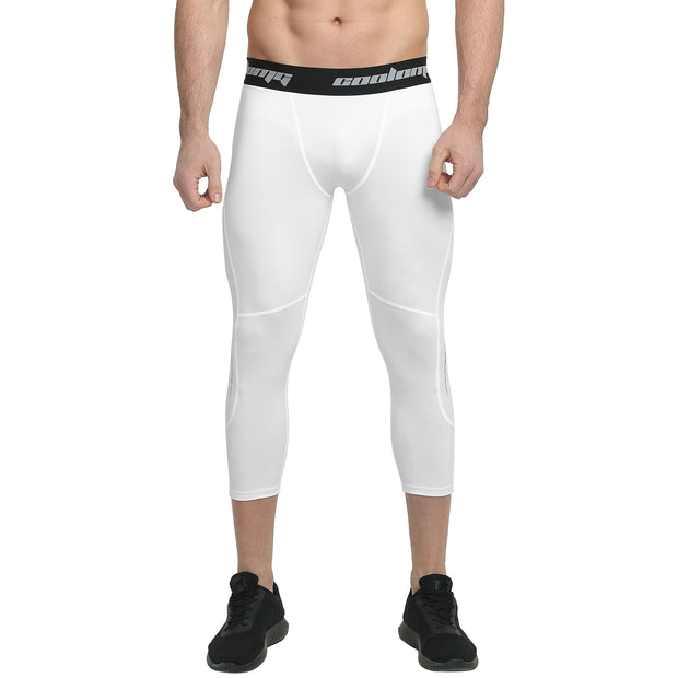 3/4 Tights | White