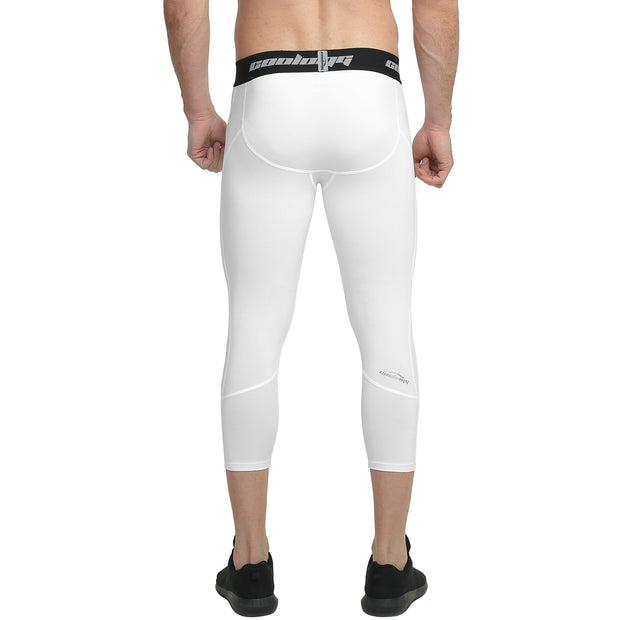White 3/4 Tights Pants for Youth & Men