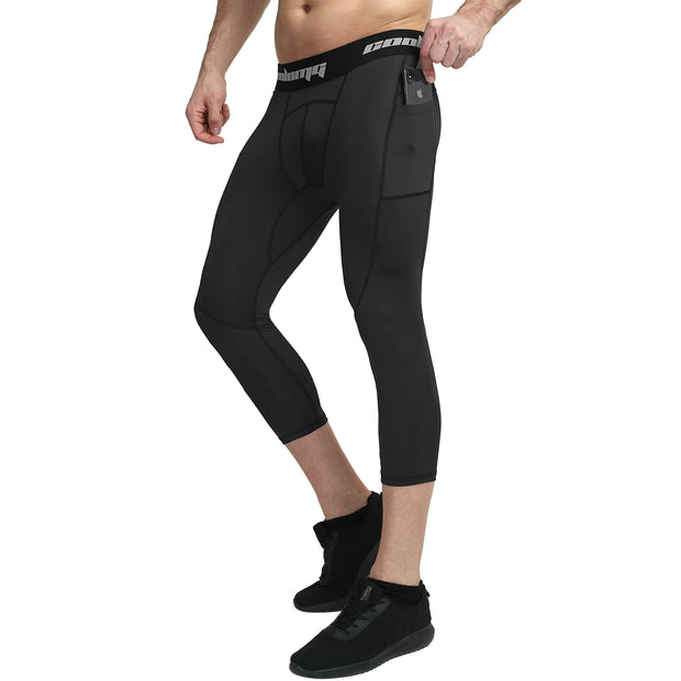 Capri Leggings With Side Pocket | Black