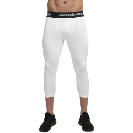 Capri Leggings With Side Pocket | White