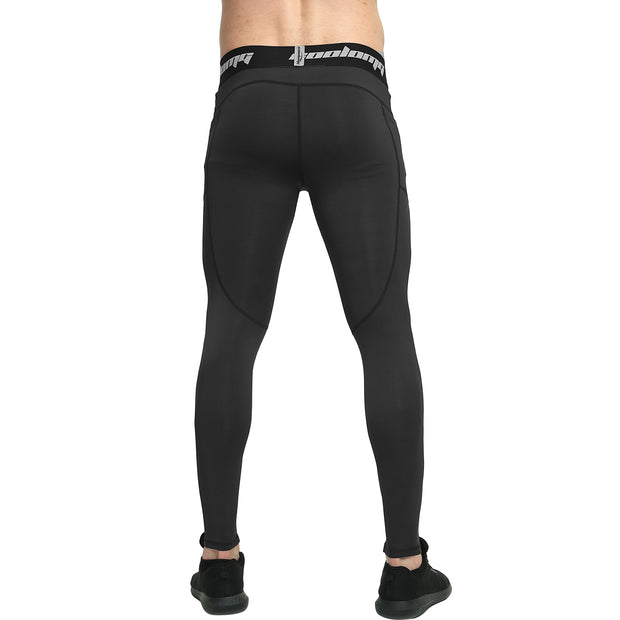 Long Leggings With Side Pocket | Black