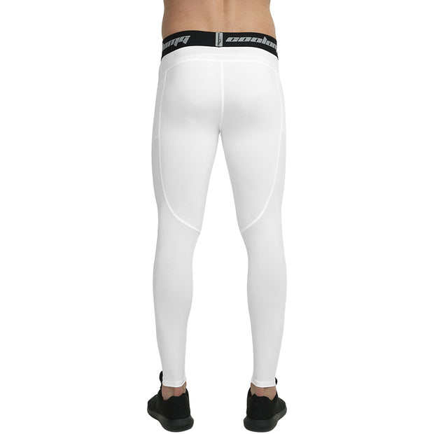 Long Leggings With Side Pocket | White