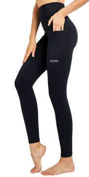 Dreamyoga Women Yoga Pants High Waist with Pocket Black S-XL