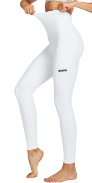 Dreamyoga Women Yoga Pants High Waist with Pocket white S-XL