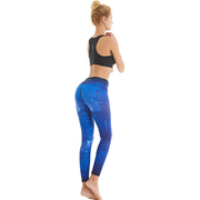 Women Sky Printed Yoga Pants