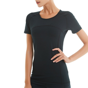 Black Women's Workout Athletic Training Top