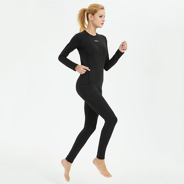 Women's Black Thermal Compression Shirt