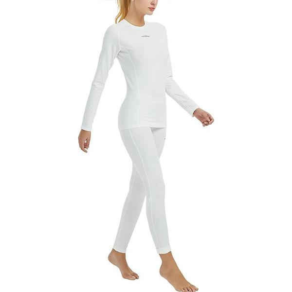 Women's White Thermal Compression Shirt