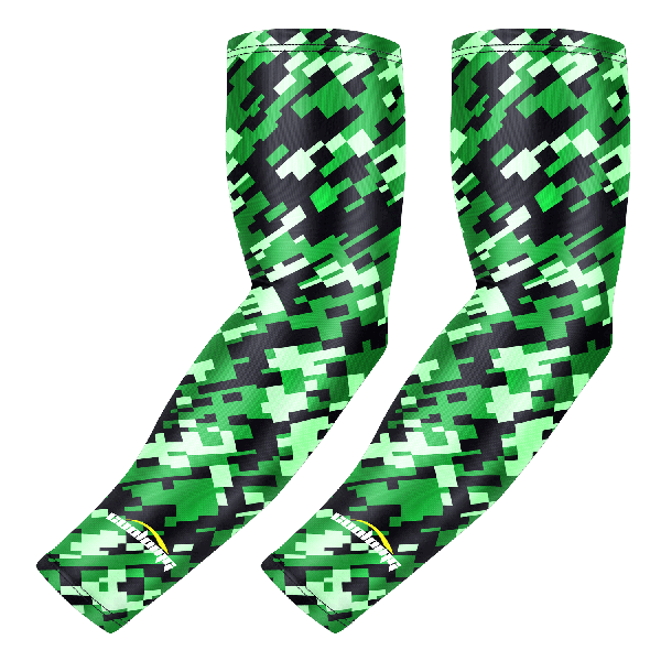 Digital Camo Green Black Compression Arm Sleeve