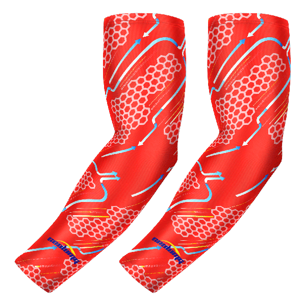 Compression Arm Sleeve Anti-slip Hacker Empire Red