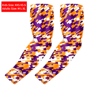 Yellow Purple Compression Arm Sleeve