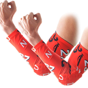 Anti-slip Red Arm Sleeve with Pad