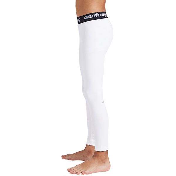Boys & Girls White Thermal Compression Pants