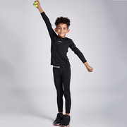 Boys Girls Black Thermal Compression Pants