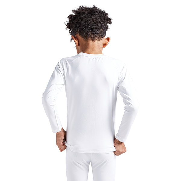 Boys & Girls White Thermal Compression Shirts