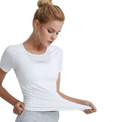 White Women's Girls Workout Athletic Training Top
