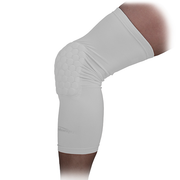 White Crashproof Basketball Leg Knee Long Sleeve - Old Version