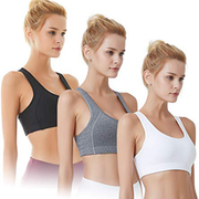 Black Women's Sports Bras with Removable Pads