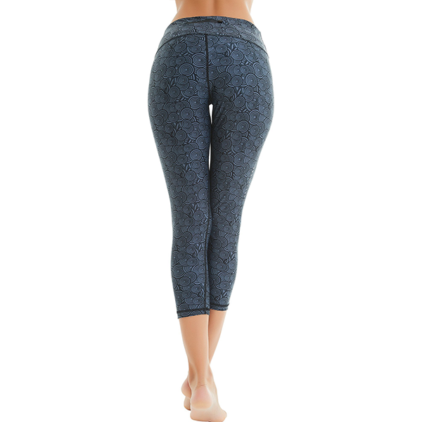 Women Printed Compression Yoga Capris Pants