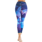 Women Girl Diamond Printed Yoga Capris