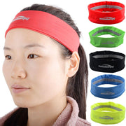 COOLOMG Blue Headband Solid Moisture Wicking Stretchy Non-slip For Sports Yoga Running Men Women