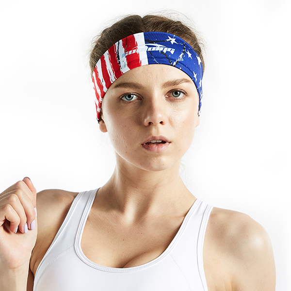 Dry Wide Headband for Sports- US Flag Print