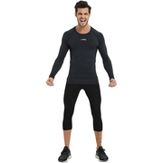 Men's Baselayer Compression Shirt- Black