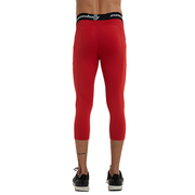 Capri Leggings With Side Pocket |Red