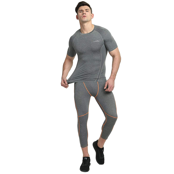 Gray 3/4 Tights Pants for Youth & Men