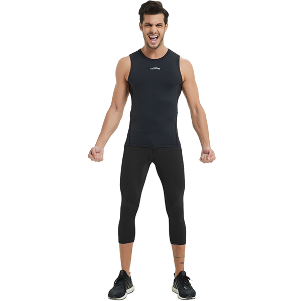 Men's Baselayer Compression Vest- Black