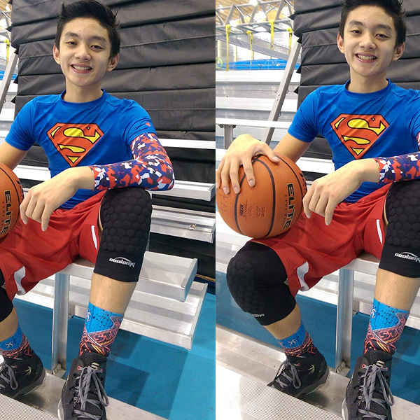 Padded Crashproof Basketball Leg Knee Short Sleeve