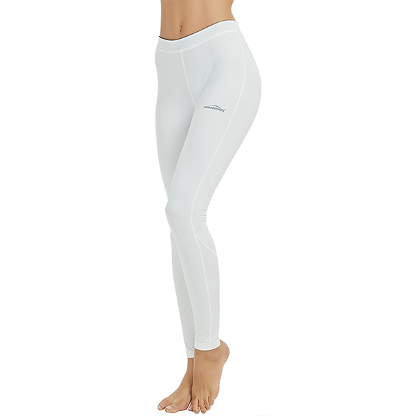 Women's White Compression Thermal Pants