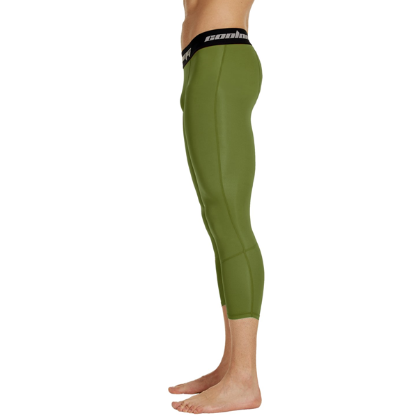 Dark Green 3/4 Tights Pants
