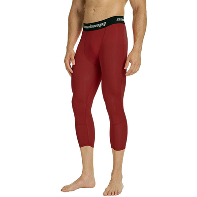 Wine Red 3/4 Tights Pants