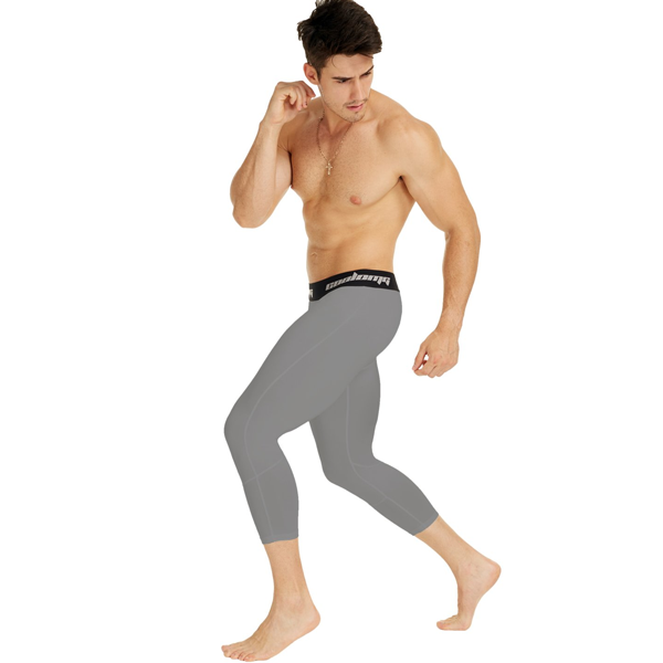 Light Grey 3/4 Compression Tights
