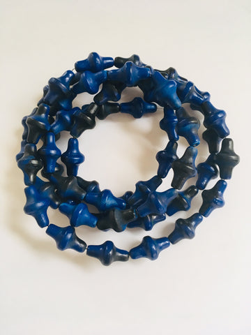 Blue and Black Coil Necklace