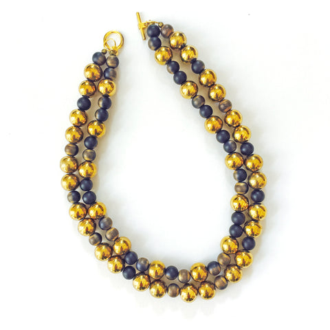 Double Strand Black and Gold