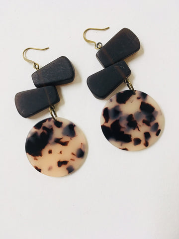 Brown and Tan Earrings
