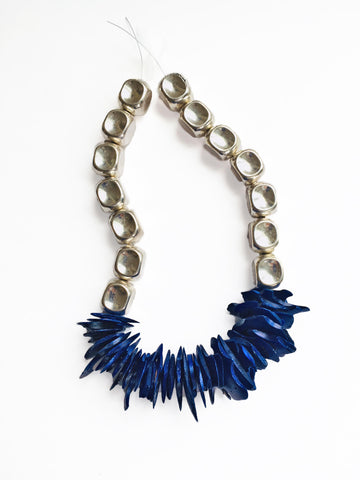 Blue Coconut Necklace